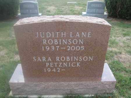PETZNICK, SARA ROBINSON - Union County, Ohio | SARA ROBINSON PETZNICK - Ohio Gravestone Photos