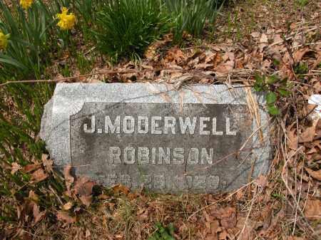 ROBINSON, J. MODERWELL - Union County, Ohio   J. MODERWELL ROBINSON - Ohio Gravestone Photos