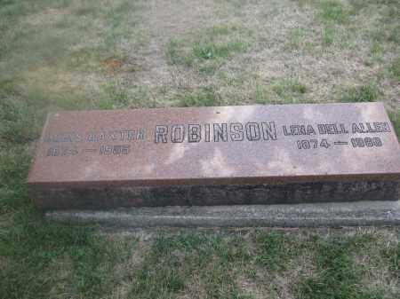 ROBINSON, LOUIS BAXTER - Union County, Ohio   LOUIS BAXTER ROBINSON - Ohio Gravestone Photos
