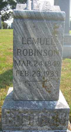 ROBINSON, LEMUEL - Union County, Ohio   LEMUEL ROBINSON - Ohio Gravestone Photos