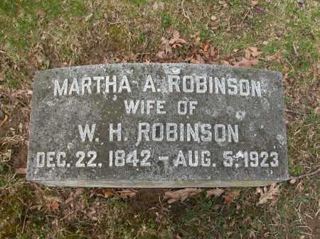 ROBINSON, MARTHA A. - Union County, Ohio   MARTHA A. ROBINSON - Ohio Gravestone Photos