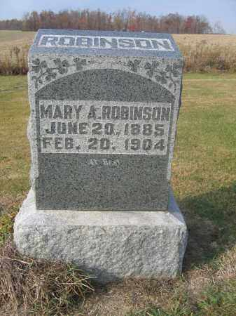 ROBINSON, MARY A. - Union County, Ohio | MARY A. ROBINSON - Ohio Gravestone Photos