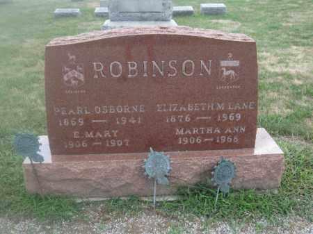 ROBINSON, PEARL OSBORNE - Union County, Ohio | PEARL OSBORNE ROBINSON - Ohio Gravestone Photos
