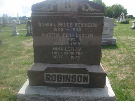 ROBINSON, MARTHA IRENA BAXTER - Union County, Ohio | MARTHA IRENA BAXTER ROBINSON - Ohio Gravestone Photos