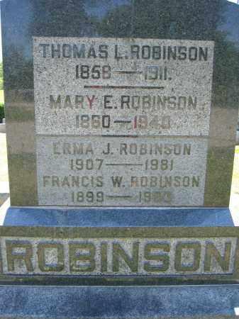 ROBINSON, FRANCIS W. - Union County, Ohio | FRANCIS W. ROBINSON - Ohio Gravestone Photos
