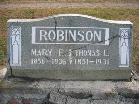 ROBINSON, MARY E. - Union County, Ohio | MARY E. ROBINSON - Ohio Gravestone Photos