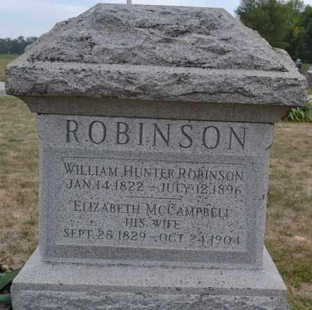 ROBINSON, WILLIAM HUNTER - Union County, Ohio | WILLIAM HUNTER ROBINSON - Ohio Gravestone Photos