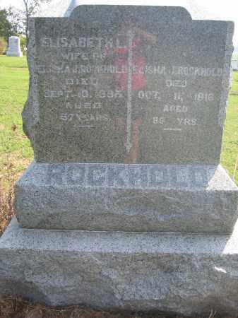 ROCKHOLD, ELIZABETH L. - Union County, Ohio | ELIZABETH L. ROCKHOLD - Ohio Gravestone Photos