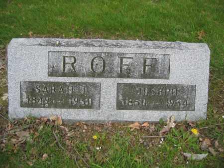 ROFF, SARAH J. - Union County, Ohio | SARAH J. ROFF - Ohio Gravestone Photos