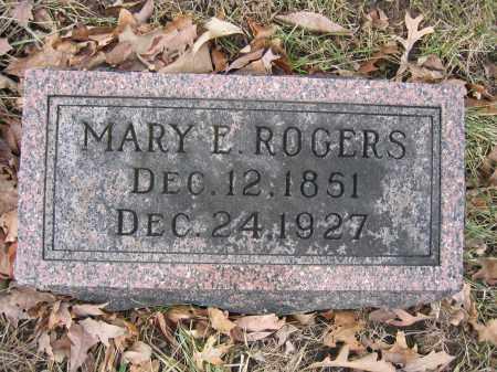 ROGERS, MARY E. - Union County, Ohio   MARY E. ROGERS - Ohio Gravestone Photos