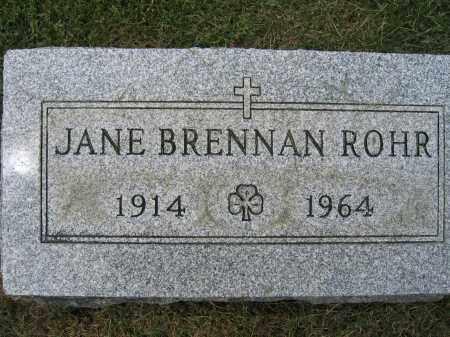 ROHR, JANE BRENNAN - Union County, Ohio | JANE BRENNAN ROHR - Ohio Gravestone Photos