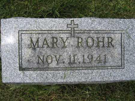 ROHR, MARY - Union County, Ohio   MARY ROHR - Ohio Gravestone Photos