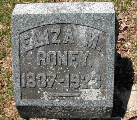 RONEY, ELIZA M. - Union County, Ohio   ELIZA M. RONEY - Ohio Gravestone Photos
