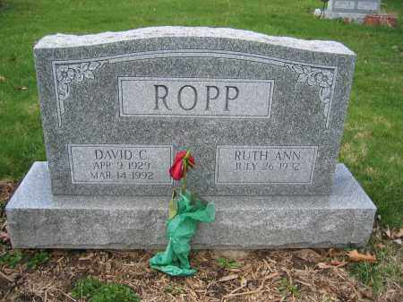 ROPP, DAVID C. - Union County, Ohio | DAVID C. ROPP - Ohio Gravestone Photos