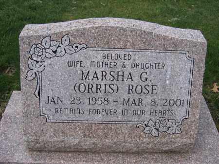 ROSE, MARSHA G. - Union County, Ohio | MARSHA G. ROSE - Ohio Gravestone Photos