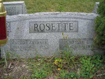 ROSETTE, MATILDA ZWERNER - Union County, Ohio   MATILDA ZWERNER ROSETTE - Ohio Gravestone Photos