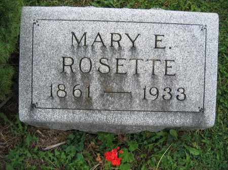 ROSETTE, MARY E. - Union County, Ohio | MARY E. ROSETTE - Ohio Gravestone Photos