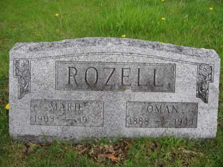 ROZELL, MARIE - Union County, Ohio | MARIE ROZELL - Ohio Gravestone Photos