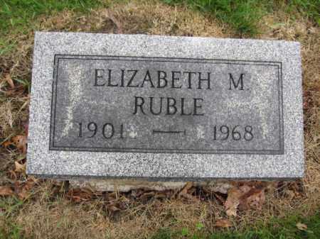 RUBLE, ELIZABETH M. - Union County, Ohio | ELIZABETH M. RUBLE - Ohio Gravestone Photos