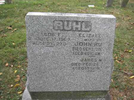 RUHL, ELIZABETH - Union County, Ohio | ELIZABETH RUHL - Ohio Gravestone Photos