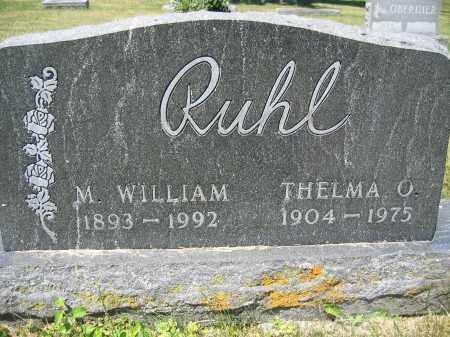 RUHL, M. WILLIAM - Union County, Ohio | M. WILLIAM RUHL - Ohio Gravestone Photos