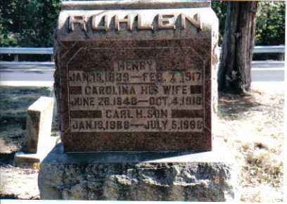 RUHLEN, CARL - Union County, Ohio | CARL RUHLEN - Ohio Gravestone Photos
