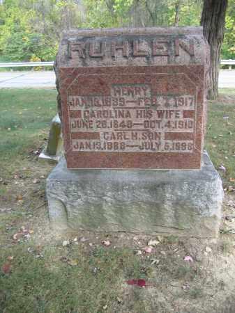 RUHLEN, CAROLINE - Union County, Ohio | CAROLINE RUHLEN - Ohio Gravestone Photos