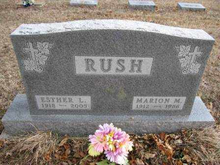 RUSH, MARION M. - Union County, Ohio | MARION M. RUSH - Ohio Gravestone Photos
