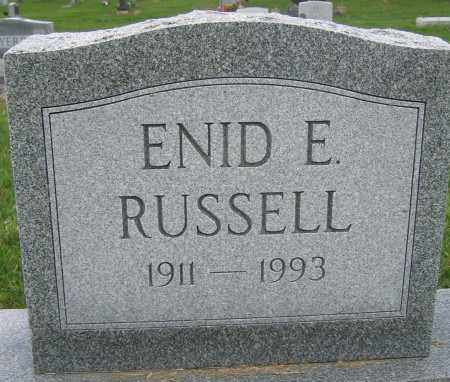 RUSSELL, ENID E. - Union County, Ohio | ENID E. RUSSELL - Ohio Gravestone Photos