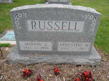 RUSSELL, MARION JAMES - Union County, Ohio | MARION JAMES RUSSELL - Ohio Gravestone Photos