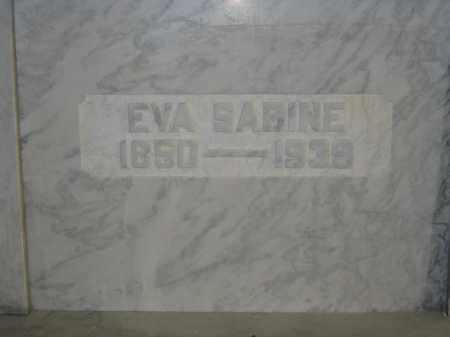 SABINE, EVA - Union County, Ohio   EVA SABINE - Ohio Gravestone Photos