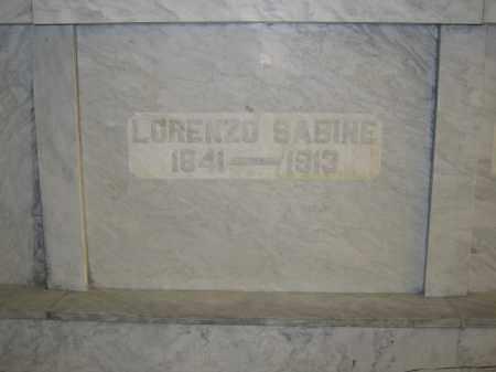 SABINE, LORENZO - Union County, Ohio | LORENZO SABINE - Ohio Gravestone Photos