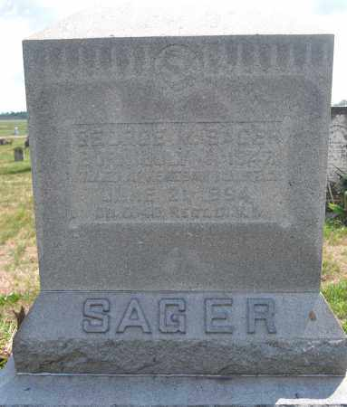 SAGER, GEORGE M. - Union County, Ohio | GEORGE M. SAGER - Ohio Gravestone Photos