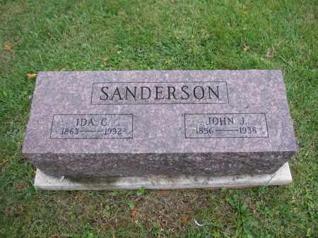 SANDERSON, IDA C. - Union County, Ohio | IDA C. SANDERSON - Ohio Gravestone Photos