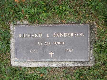 SANDERSON, RICHARD L. - Union County, Ohio | RICHARD L. SANDERSON - Ohio Gravestone Photos