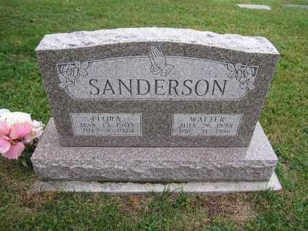 SANDERSON, FLORA - Union County, Ohio | FLORA SANDERSON - Ohio Gravestone Photos