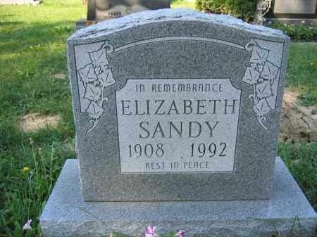 SANDY, ELIZABETH - Union County, Ohio   ELIZABETH SANDY - Ohio Gravestone Photos