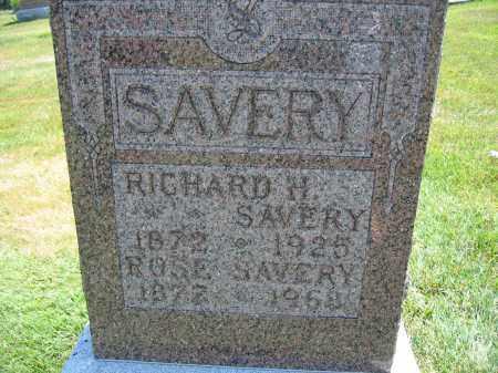 SAVERY, ROSE - Union County, Ohio | ROSE SAVERY - Ohio Gravestone Photos