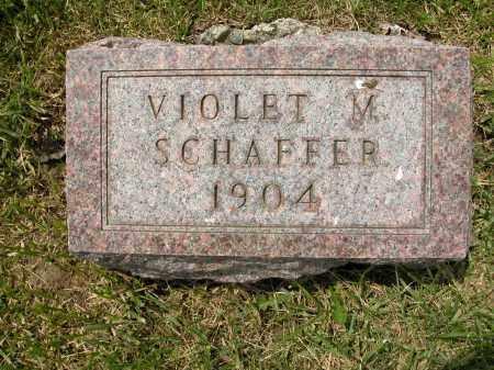 SCHAFFER, VIOLET M. - Union County, Ohio | VIOLET M. SCHAFFER - Ohio Gravestone Photos