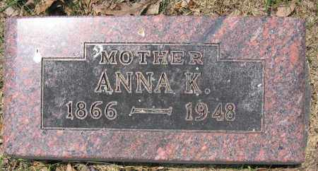 SCHALIP, ANNA K. - Union County, Ohio | ANNA K. SCHALIP - Ohio Gravestone Photos