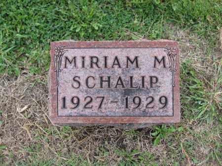 SCHALIP, MIRIAM M. - Union County, Ohio | MIRIAM M. SCHALIP - Ohio Gravestone Photos