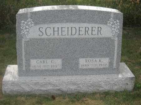 SCHEIDERER, CARL C. - Union County, Ohio | CARL C. SCHEIDERER - Ohio Gravestone Photos