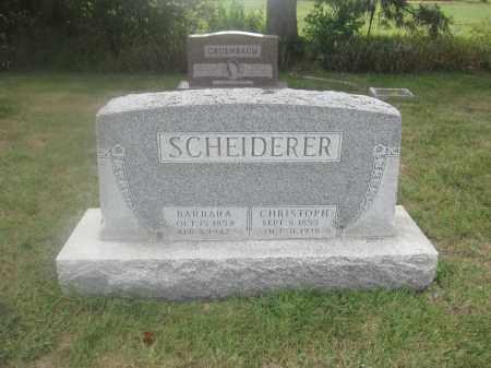 SCHEIDERER, CHRISTOPHER - Union County, Ohio | CHRISTOPHER SCHEIDERER - Ohio Gravestone Photos
