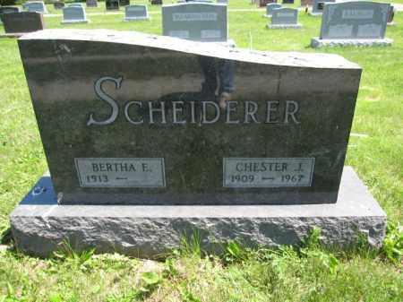 SCHEIDERER, CHESTER J. - Union County, Ohio | CHESTER J. SCHEIDERER - Ohio Gravestone Photos