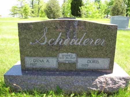 SCHEIDERER, DANA A. - Union County, Ohio   DANA A. SCHEIDERER - Ohio Gravestone Photos