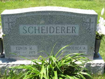 SCHEIDERER, EDWIN M. - Union County, Ohio | EDWIN M. SCHEIDERER - Ohio Gravestone Photos