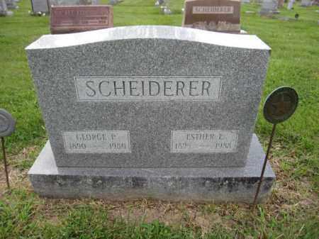 SCHEIDERER, ESTHER E - Union County, Ohio | ESTHER E SCHEIDERER - Ohio Gravestone Photos