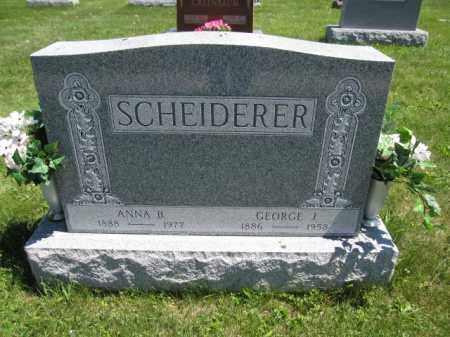 SCHEIDERER, ANNA B. - Union County, Ohio | ANNA B. SCHEIDERER - Ohio Gravestone Photos
