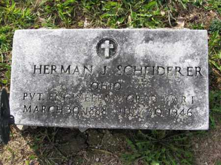 SCHEIDERER, HERMAN J. - Union County, Ohio   HERMAN J. SCHEIDERER - Ohio Gravestone Photos