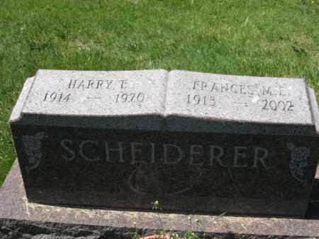 SCHEIDERER, FRANCES M.E. - Union County, Ohio | FRANCES M.E. SCHEIDERER - Ohio Gravestone Photos